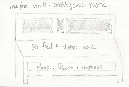 Backyard buffet sketch