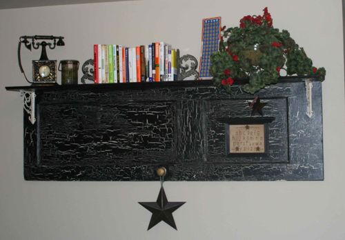 Black door shelf